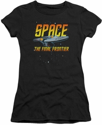 Star Trek juniors t-shirt Space black