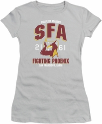 Star Trek juniors t-shirt Starfleet Academy Fighting Phoenix silver