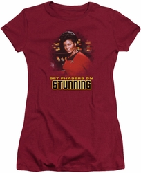 Star Trek juniors t-shirt Stunning cardinal
