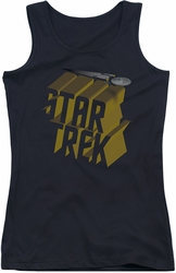Star Trek juniors tank top 3D Logo black