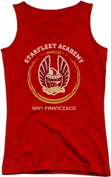 Star Trek juniors tank top Academy Heraldry red