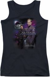 Star Trek juniors tank top Captain Archer black