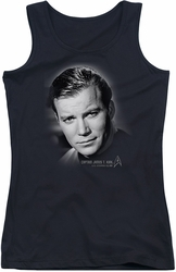Star Trek juniors tank top Captain Kirk Portrait black
