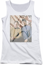 Star Trek juniors tank top Classic Duo white