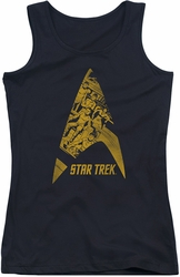 Star Trek juniors tank top Delta Crew black