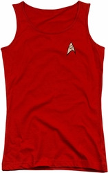 Star Trek juniors tank top Engineering Uniform red
