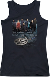 Star Trek juniors tank top Enterprise Crew black