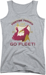 Star Trek juniors tank top Fighting Phoenix athletic heather