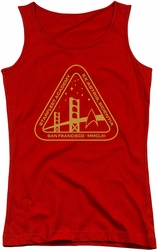Star Trek juniors tank top Gold Academy red