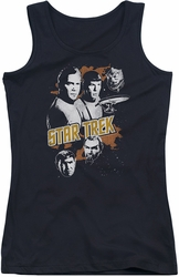 Star Trek juniors tank top Graphic Good Vs Evil black