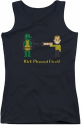 Star Trek juniors tank top Kirk Phased First black