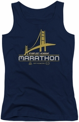 Star Trek juniors tank top Marathon Logo navy
