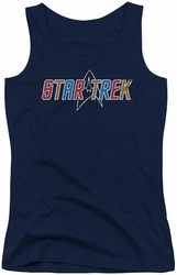 Star Trek juniors tank top Multi Colored Logo navy