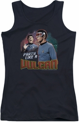 Star Trek juniors tank top Party Like A Vulcan black
