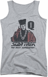 Star Trek juniors tank top Q Point athletic heather