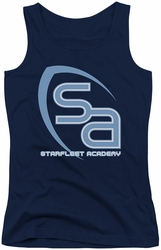 Star Trek juniors tank top Sa Logo navy
