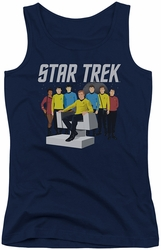 Star Trek juniors tank top Vector Crew navy
