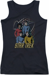 Star Trek juniors tank top Warp Factor 4 black