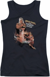 Star Trek juniors tank top Wrath Of Khan(Movie) black