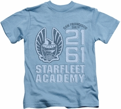 Star Trek kids t-shirt 2161 carolina blue