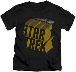 Star Trek kids t-shirt 3D Logo black