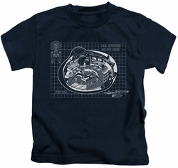Star Trek kids t-shirt Bridge Prints navy