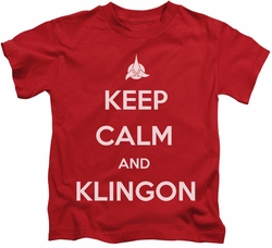 Star Trek kids t-shirt Calm Klingon red