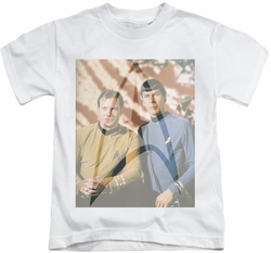 Star Trek kids t-shirt Classic Duo white