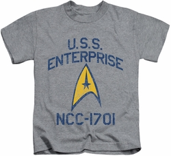 Star Trek kids t-shirt Collegiate Arch athletic heather