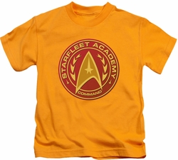 Star Trek kids t-shirt Command gold