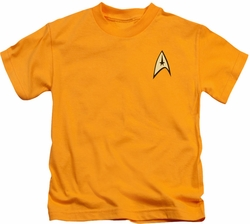 Star Trek kids t-shirt Command Uniform gold