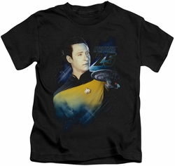 Star Trek kids t-shirt Data 25th black