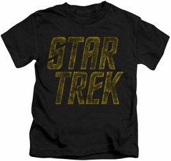 Star Trek kids t-shirt Distressed Logo black