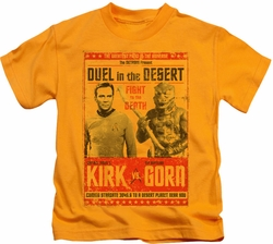 Star Trek kids t-shirt Duel In The Desert gold