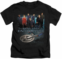 Star Trek kids t-shirt Enterprise Crew black