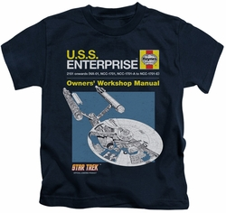 Star Trek kids t-shirt Enterprise Manual navy