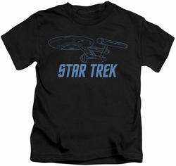 Star Trek kids t-shirt Enterprise Outline black