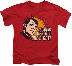 Star Trek kids t-shirt Everything red