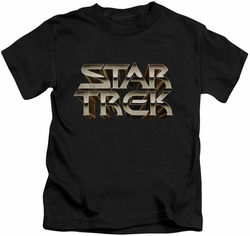 Star Trek kids t-shirt Feel The Steel black