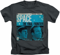 Star Trek kids t-shirt Final Frontier Cover charcoal