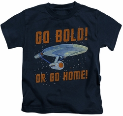 Star Trek kids t-shirt Go Bold navy