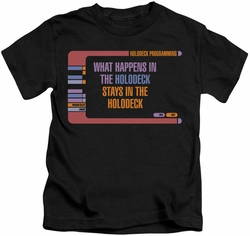 Star Trek kids t-shirt Holodeck Secrets black