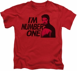 Star Trek kids t-shirt Im Number One red