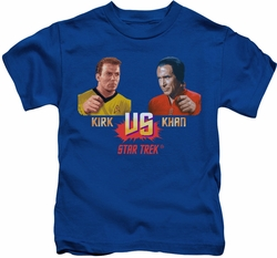 Star Trek kids t-shirt Kirk Vs Khan royal