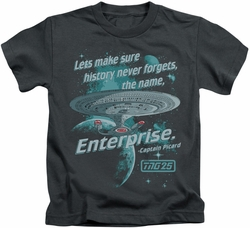 Star Trek kids t-shirt Never Forget charcoal