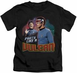 Star Trek kids t-shirt Party Like A Vulcan black