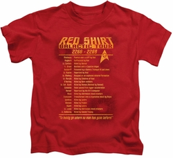 Star Trek kids t-shirt Red Shirt Tour red
