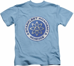 Star Trek kids t-shirt Science carolina blue