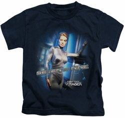 Star Trek kids t-shirt Seven Of Nine navy