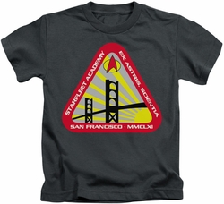 Star Trek kids t-shirt Starfleet Academy charcoal
